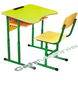 Комплект: Стол 1-мест., № 4-6 + стул Т-образный, №4-6