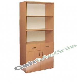 Шафа книжкова з 2 шухл. 2-дверна (гл. 380мм)