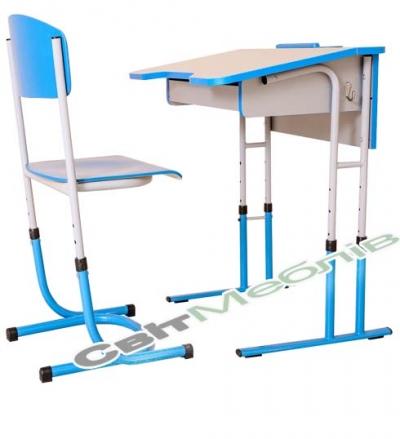 Комплект: стіл 1-місний з ящиком антисколіозний, №4-6 + стілець №4-6