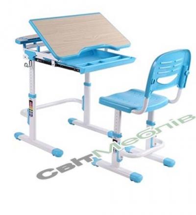 Комплект - транформер: стіл 1-місний з ящиком для речей + стілець