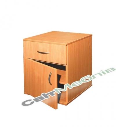 Тумбочка з дверцею та шухлядою ДСП