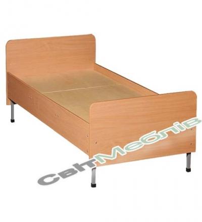 Ліжко 1-спальне, спинки із заокругл. кутами