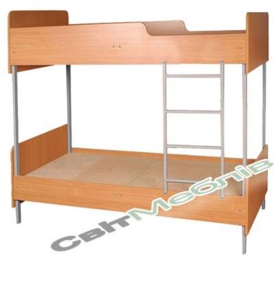 Ліжко 2-ярусне з заокругл., на метал. каркасі