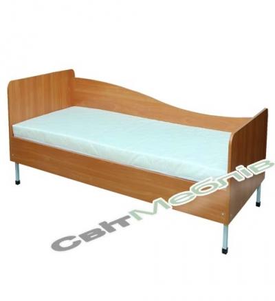 Ліжко 1-спальне з заокругленими спинками