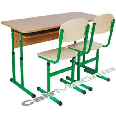 Комплект №4-6,  стіл+стілець Т-подіб.