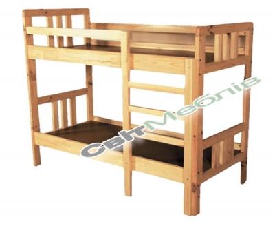 Ліжко дитяче 2-ярусне з натуральної деревини
