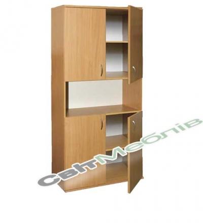 Шафа книжкова напівз. 4-дверна (гл. 380мм)