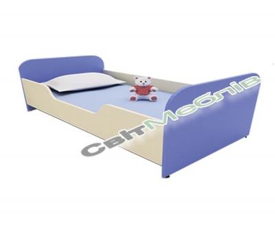 Ліжко дитяче ясельне з заоваленими боковинами
