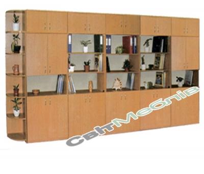 Стінка для кабінетів 6 секцій