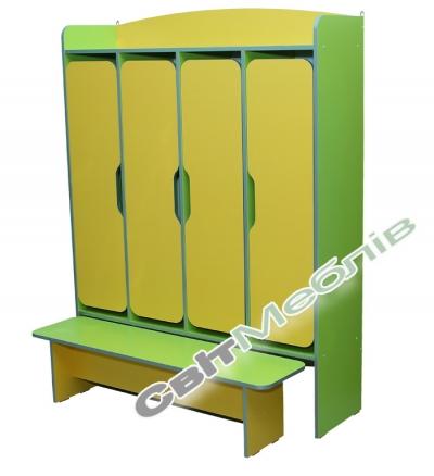 Шафа 4-дверна  з лавкою