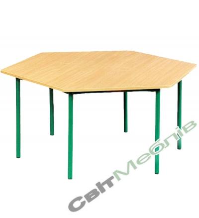 Стіл 6-кутний для садочка (пластик)