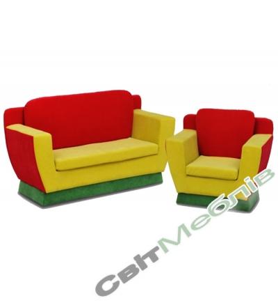 Диван и кресло для дет.садика №6