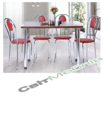 Комплект  стіл та стільці  Кая + Базис + Луїза